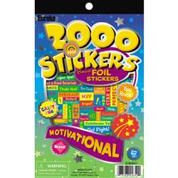 2000 Motivational Sticker Book By Eureka