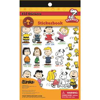 Peanuts Sticker Books By Eureka