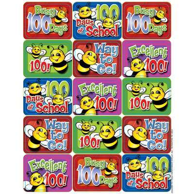 100 Days Of School Bees Success Stickers By Eureka