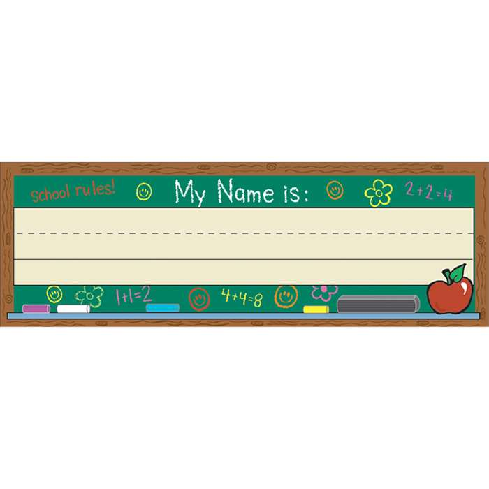 Self-Adhesive Name Plates Chalkboard By Eureka