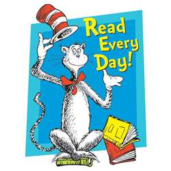 Cat In The Hat Read Every Day Window Cling By Eureka