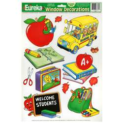 Window Cling Welcome Students 12X17 12 X 17 By Eureka