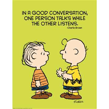 Shop Peanuts Talk And Listen 17X22 Poster - Eu-837023 By Eureka