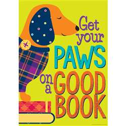 Get Your Paws On A Good Book Poster Plaid Attitude, EU-837062