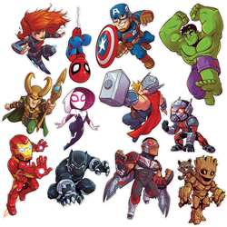 Marvel Super Hero Adventure 2Sided Decor Kits, EU-840222