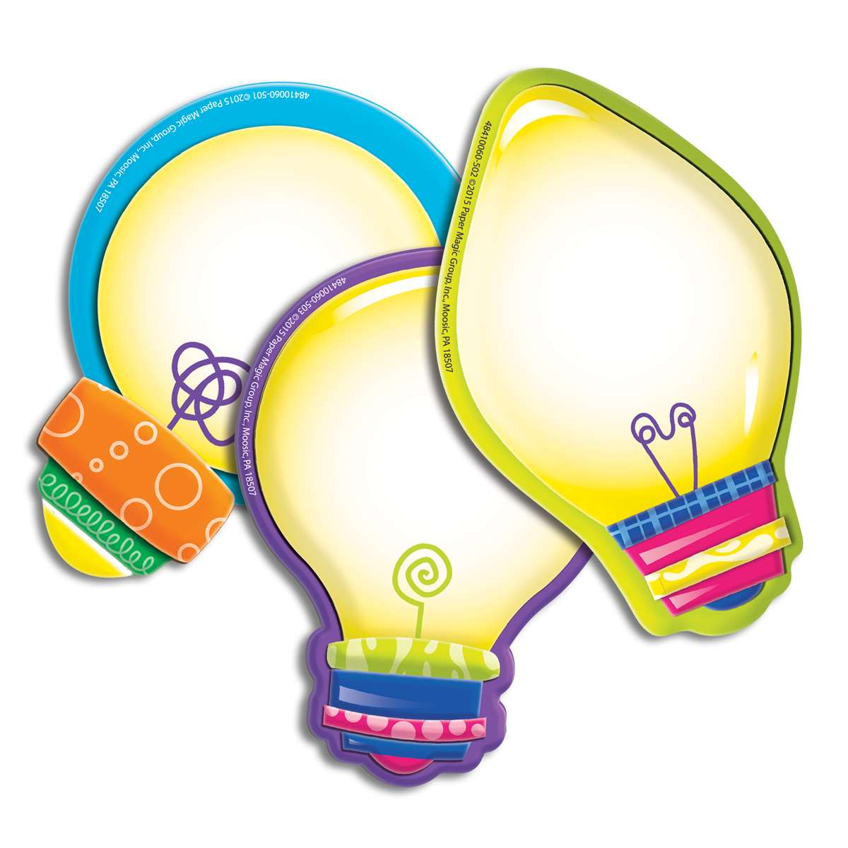 Eureka Color My World Light Bulb Paper Cut-Outs 841006 36 Pack