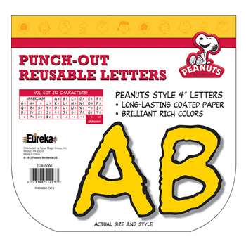 Peanuts Deco Letters Yellow By Eureka