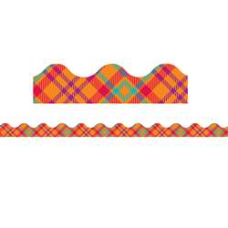 Plaid Attitude Orange Plaid Deco Trim, EU-845292