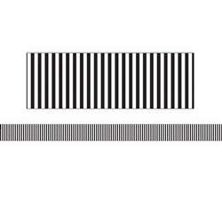 B&W Stripe Wide Diecut Deco Trim Simply Sassy, EU-845322