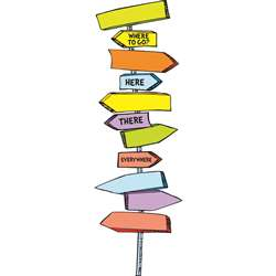 Dr Seuss Blank Directional Signs Mini Bulletin Board Set By Eureka