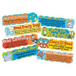 Dr Seuss Reading Tips Mini Bulletin Board Set, EU-847057