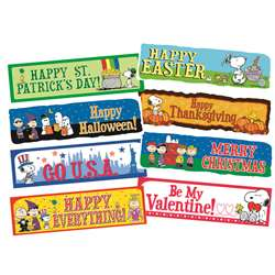 Peanuts Year Of Holidays Mini Bulletin Board Set By Eureka