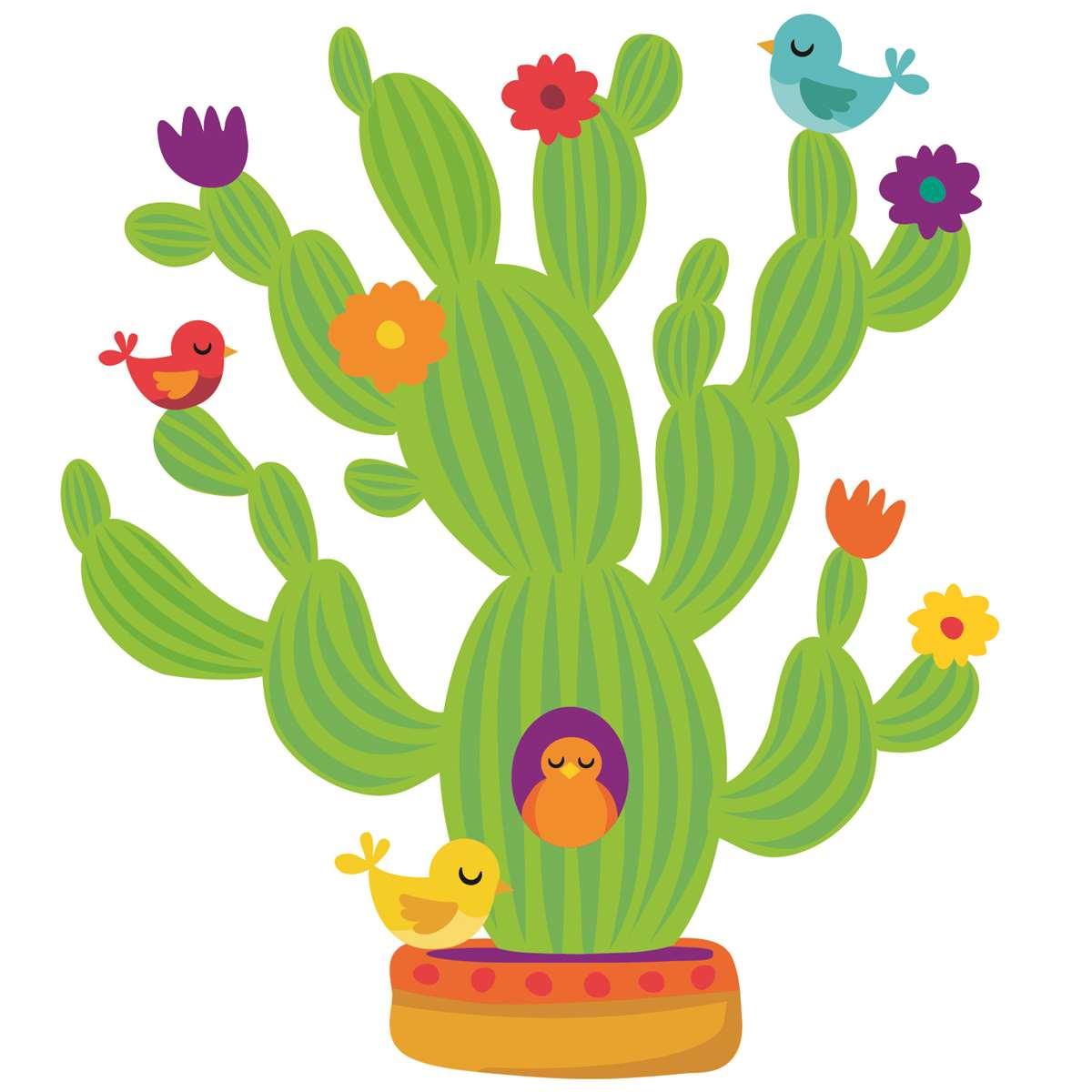 A Sharp Bunch Giant Cactus Bulletin Board Set EU 847546 Eureka