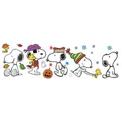 Fall Winter Snoopy Pose Bulletin Board Set By Eureka