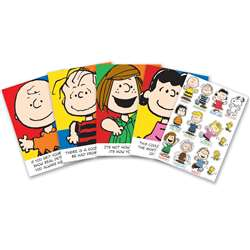 Peanuts Characters And Motivational Phrases Bulletin Board Set By Eureka