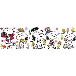Spring Summer Snoopy Pose Bulletin Board Set By Eureka