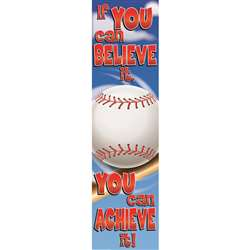 Baseball Motivational Banner 4Ft By Eureka