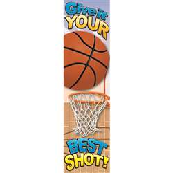 Basketball Motivational Banner 4Ft By Eureka