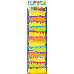 Color My World Spanish Birthday Banners Vertical, EU-849271