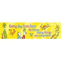 Dr Seuss One Fish Two Fish Banner Horizontal, EU-849444
