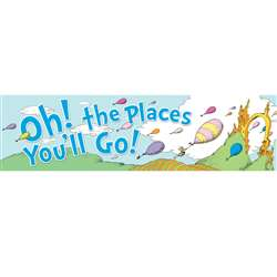 Dr Seuss Oh The Places Balloons Classroom Banner By Eureka