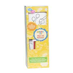 Color It Fair Wipe Off Placemat With Markers, EU-BIM218427