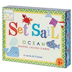 Set Sail Shaped Lacing Cards English/Spanish/Frenc, EU-BLC12701