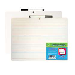 2 Sided Dry Erase with Marker 12Pk Red & Blue Rule, FLP19134