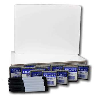 Magnetic Dry Erase Board 12Pk Class Pack 9X12 By Flipside