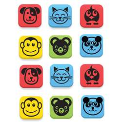 Magnetic Erasers Animals Set Of 12, FLP35020