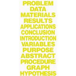 Project Board Titles Yellow By Flipside