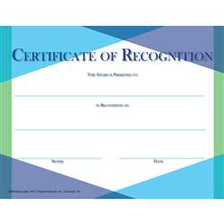 Glass Certificate Of Recognition, FLPGS002