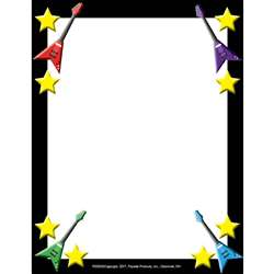 Rock Star Border Paper, FLPRS002
