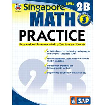 Math Practice Level 2B Gr 3 By Carson Dellosa