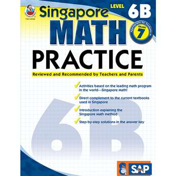 Math Practice Level 6B Gr 7 By Carson Dellosa