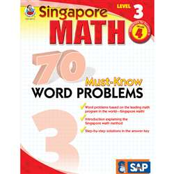 70 Must Know Word Problems Level 3 Gr 4 By Carson Dellosa