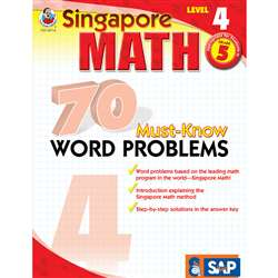 70 Must Know Word Problems Level 4 Gr 5 By Carson Dellosa