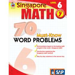 70 Must Know Word Problems Level 6 Gr 7 By Carson Dellosa