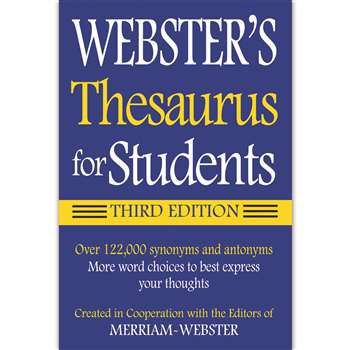 Websters Thesaurus For Students By Federal Street Press