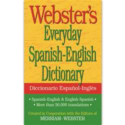 Websters Everyday Spanish English Dictionary By Federal Street Press