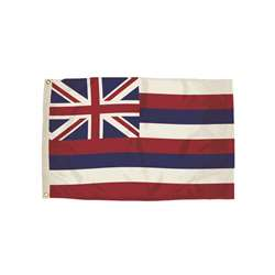 3X5 Nylon Hawaii Flag Heading & Grommets, FZ-2102051