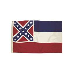 3X5 Nylon Mississippi Flag Heading And Grommets, FZ-2232051
