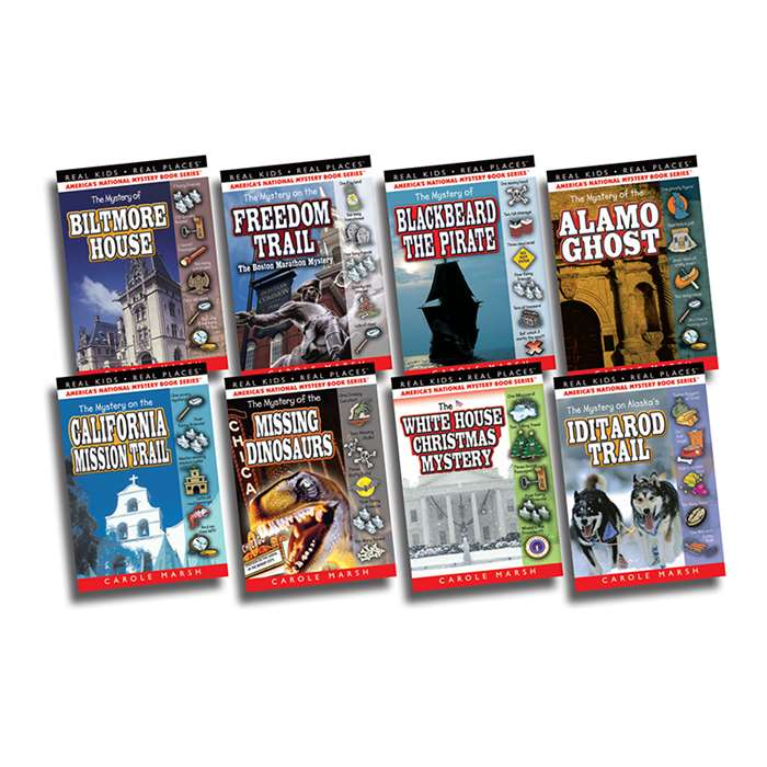 Real Kids Real Places Mysteries Set 1 Books 1-8, GALSPRKP18KS