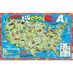 Our Big Cool Usa Poster Map By Gallopade
