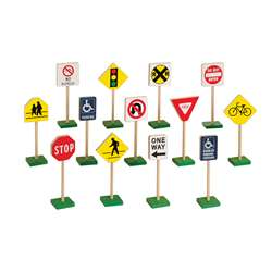 Traffic Signs 7 13/Pk By Guidecraft Usa
