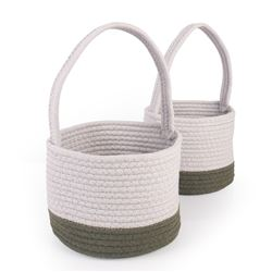 Woven Block Baskets Set Of 2, GD-6752
