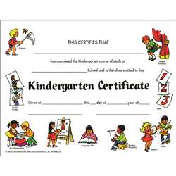 Certificates Kindegarten Set Of 30 By Hayes School Publishing