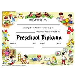 Diplomas Preschool 30 Pk 8.5 X 11 By Hayes School Publishing
