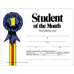 Student Of The Month 30Pk Certificate By Hayes School Publishing