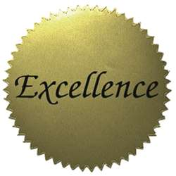 Stickers Gold Excellence 50/Pk 2 Diameter By Hayes School Publishing